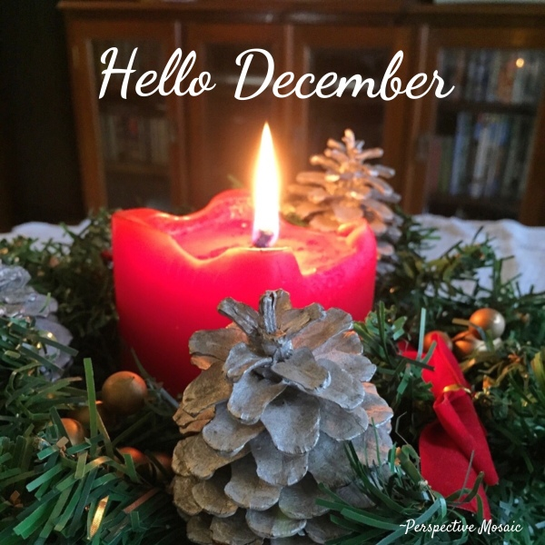 December candle flame