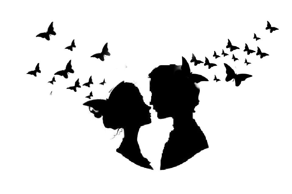 couple love butterfly