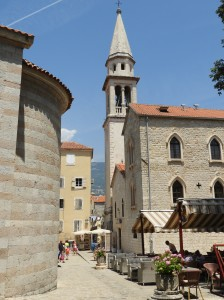 Streets Budva Montenegro Perspective Mosaic