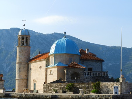 Our Lady of the Rocks island Perast Montenegro Perspective Mosaic