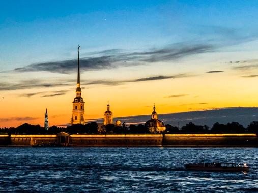 Nevsky River St Petersburg Russia