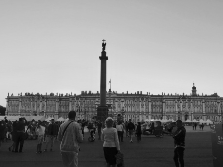 Hermitage Museum Winter Palace Square St Petersburg Russia Black and White
